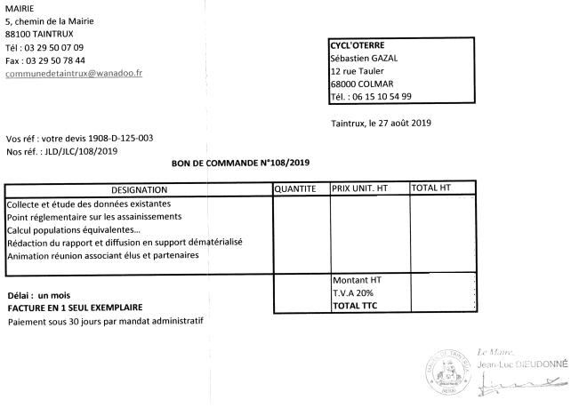 CYCL'O TERRE bureau d'etudes environnement commande Taintrux