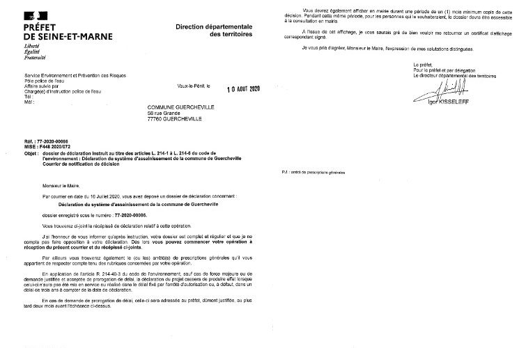 CYCL'O TERRE bureau d'etudes environnement arrete prefectoral Guercheville