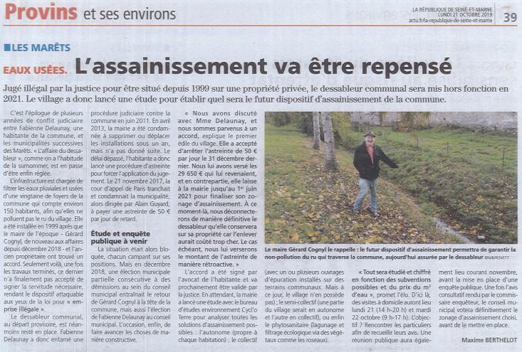 CYCL'O TERRE bureau d'etudes environnement article la République de Seine et Marne les Marêts