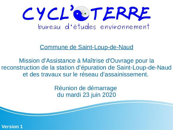 CYCL'O TERRE bureau d'etudes environnement reunion démarrage Saint-Loup-de-Naud