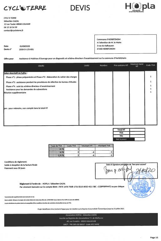 CYCL'O TERRE bureau d'etudes environnement commande Herbitzheim SDA