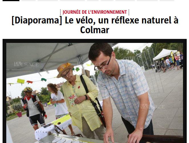 CYCL'O TERRE bureau d'études environnement diapositive DNA journée vélo Colmar