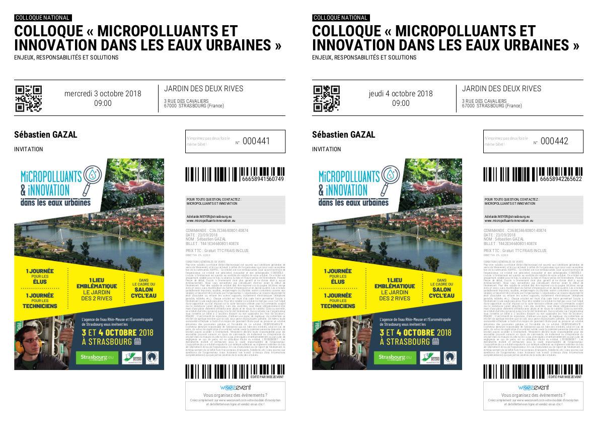 CYCL'O TERRE bureau d'etudes environnement montage colloque micropolluants