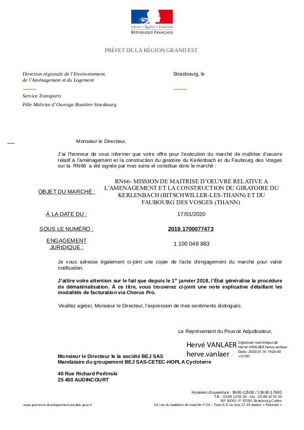 CYCL'O TERRE bureau d'etudes environnement notification DREAL Grand Est