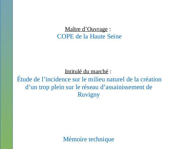 étude d'incidence assainissement Ruvigny (10)