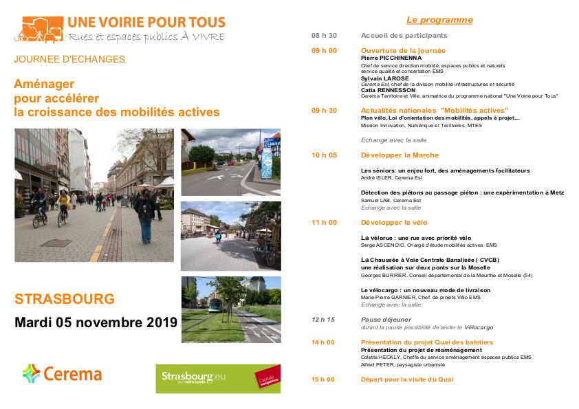 CYCL'O TERRE bureau d'etudes environnement journée Cerema Strasbourg voirie pour tous