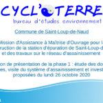 CYCL'O TERRE bureau d'études environnement réunion phase 1 Saint-Loup-de-Naud